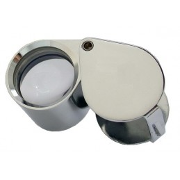 LOUPE GROSSISSEMENT X10 -TRIPLET CHROMEE LENTILLE 18mm+ ETUI