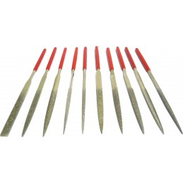 JEU DE 10 LIMES DIAMANTEES 140mm - QUALITE STANDARD