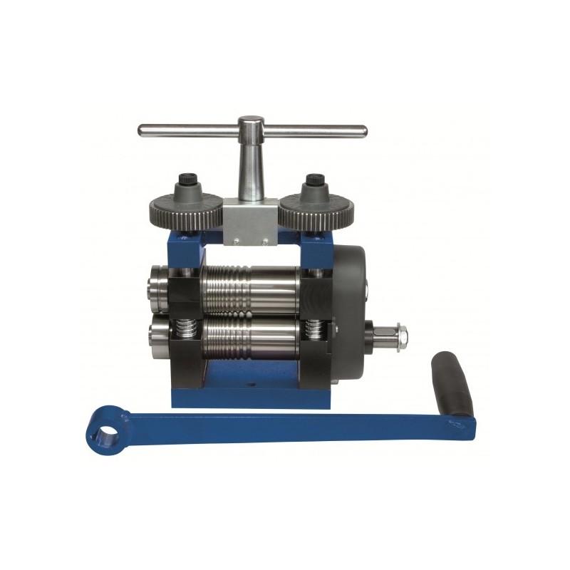Laminoir à main 120 mm structure en acier spacial plaque fil + roulettes