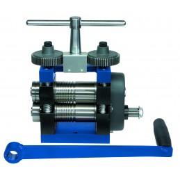 Laminoir à main 120 mm structure en acier spacial plaque et fil + roulette