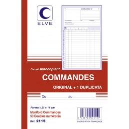 CARNET COMMANDES AUTOCOPIANT - A5 - 50 dupli - x10