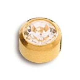 BOUTONS OREILLE DORES OXYDE GM 12P
