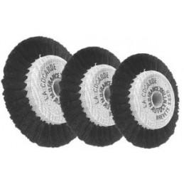 Brosse circulaire noyau bois auto-centrées soie noire